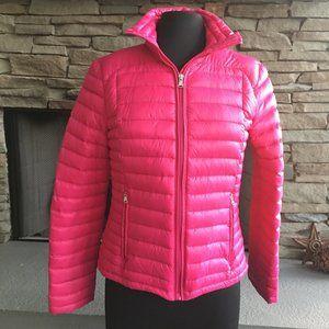 Ralph Lauren Pink Down Puffer Jacket Sz Medium